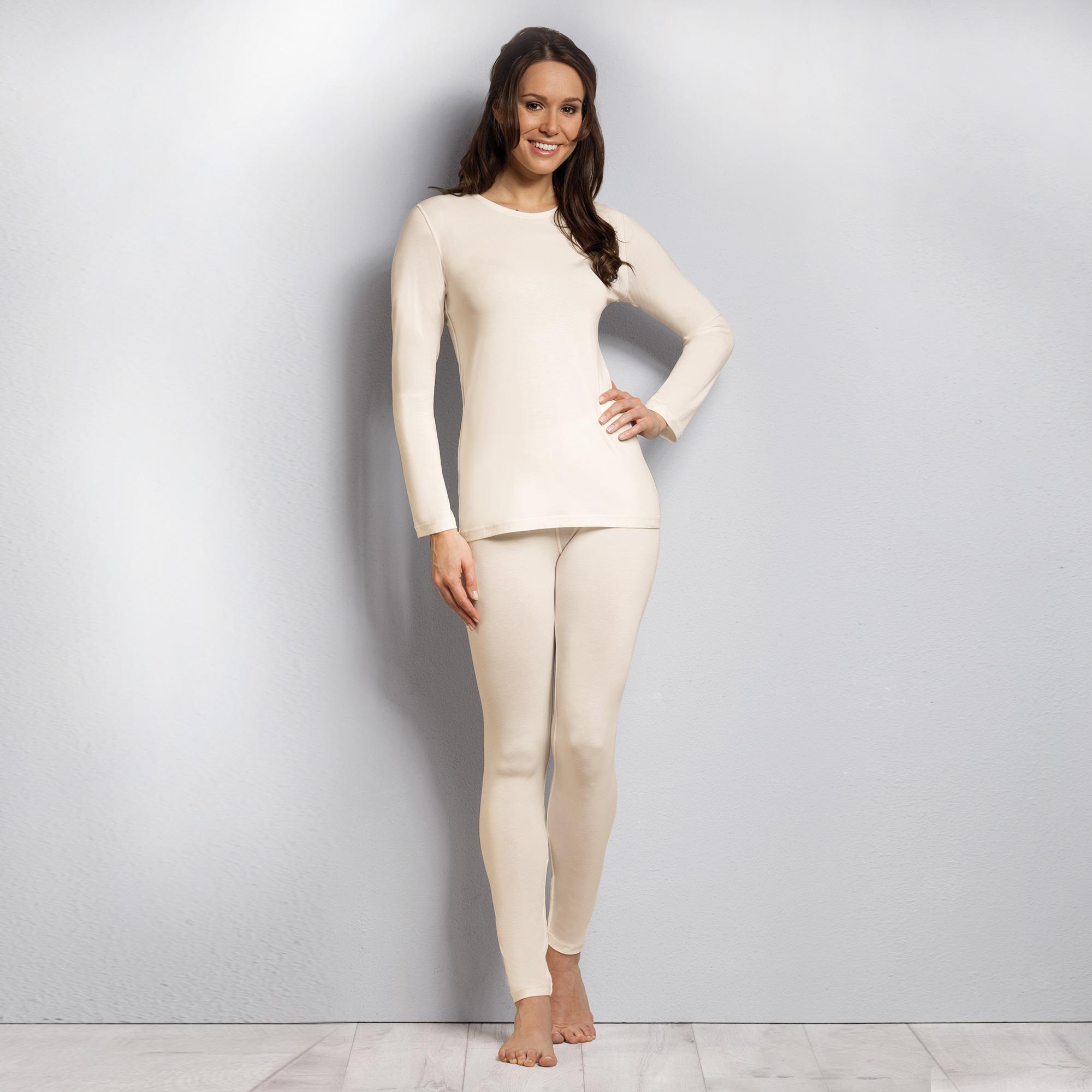dfcec2c25bc1f1 Sensipur Zink Damen Langarmshirt | Unterwäsche für Allergiker