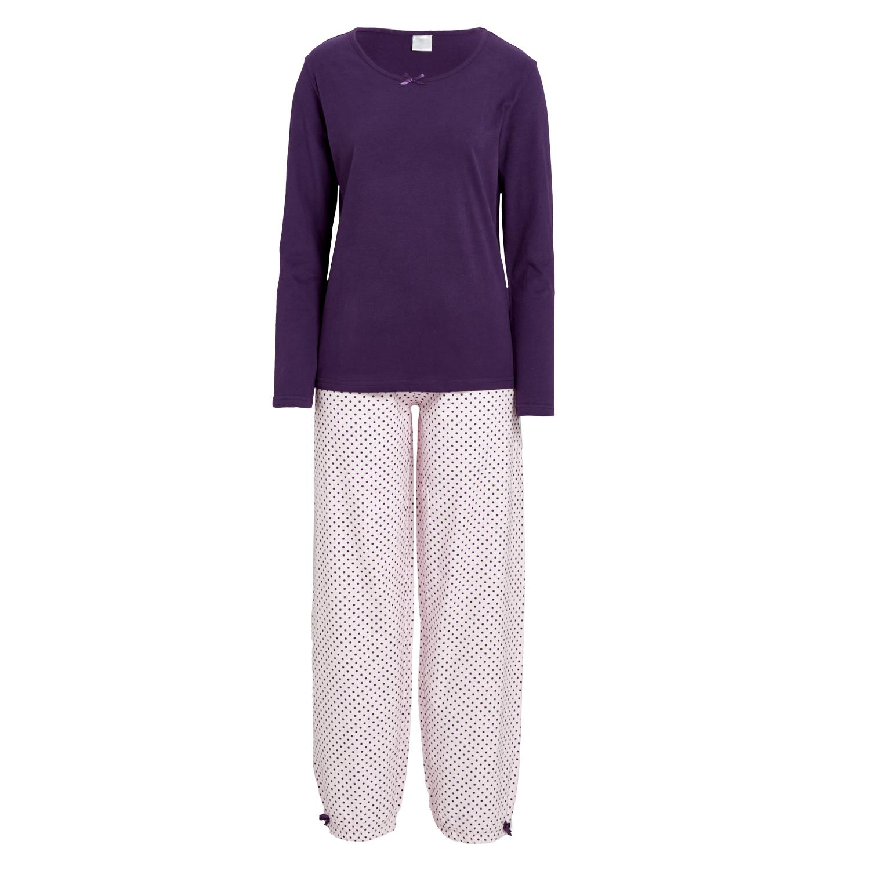 damen flanell pyjama mit p nktchenmuster karl rieker shop. Black Bedroom Furniture Sets. Home Design Ideas