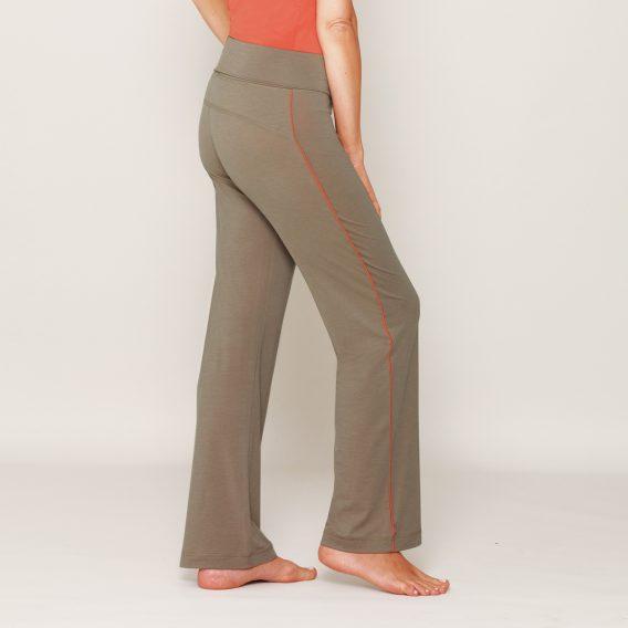 b.well Yoga Kleidung: Damen Wellnesshose mit Umschlagbund