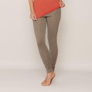 b.well Yoga Kleidung: Damen Leggings mit Raffung, Paspel