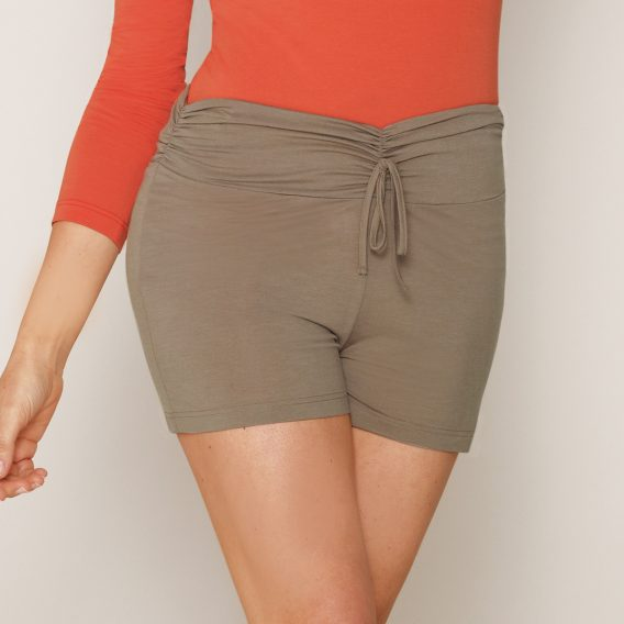 b.well Yoga Damen Kleidung: Shorts mit Umschalgbund