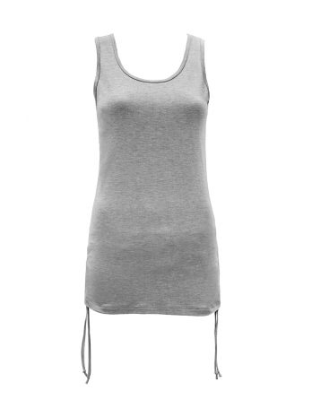 b.well damen Yoga Kleidung: Damen Longtop mit Raffung
