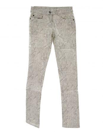 Damen Stretchhose in weiß/grau