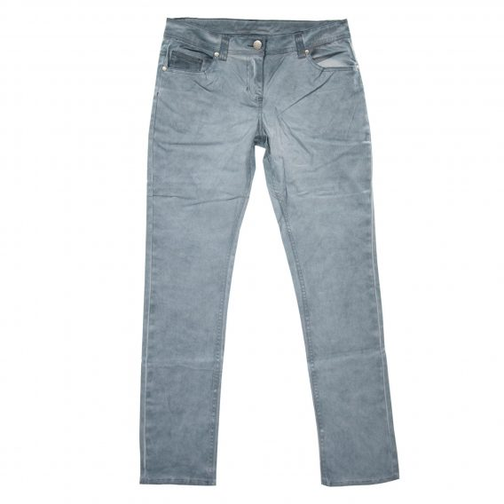 Damen Stretchhose blau/grau