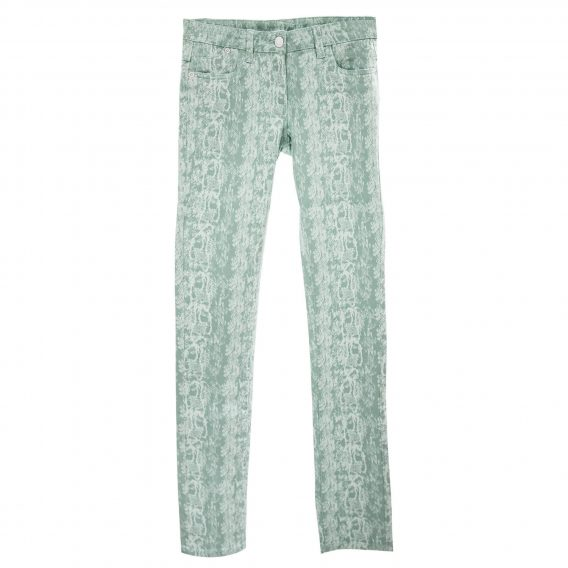 Damen Stretch Hose grün/weiß