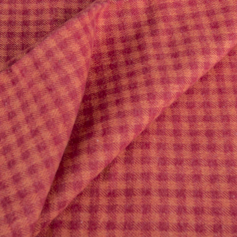 Stoff: Twill weave Flanell kariert rot-orange 150x150 cm - Karl ...