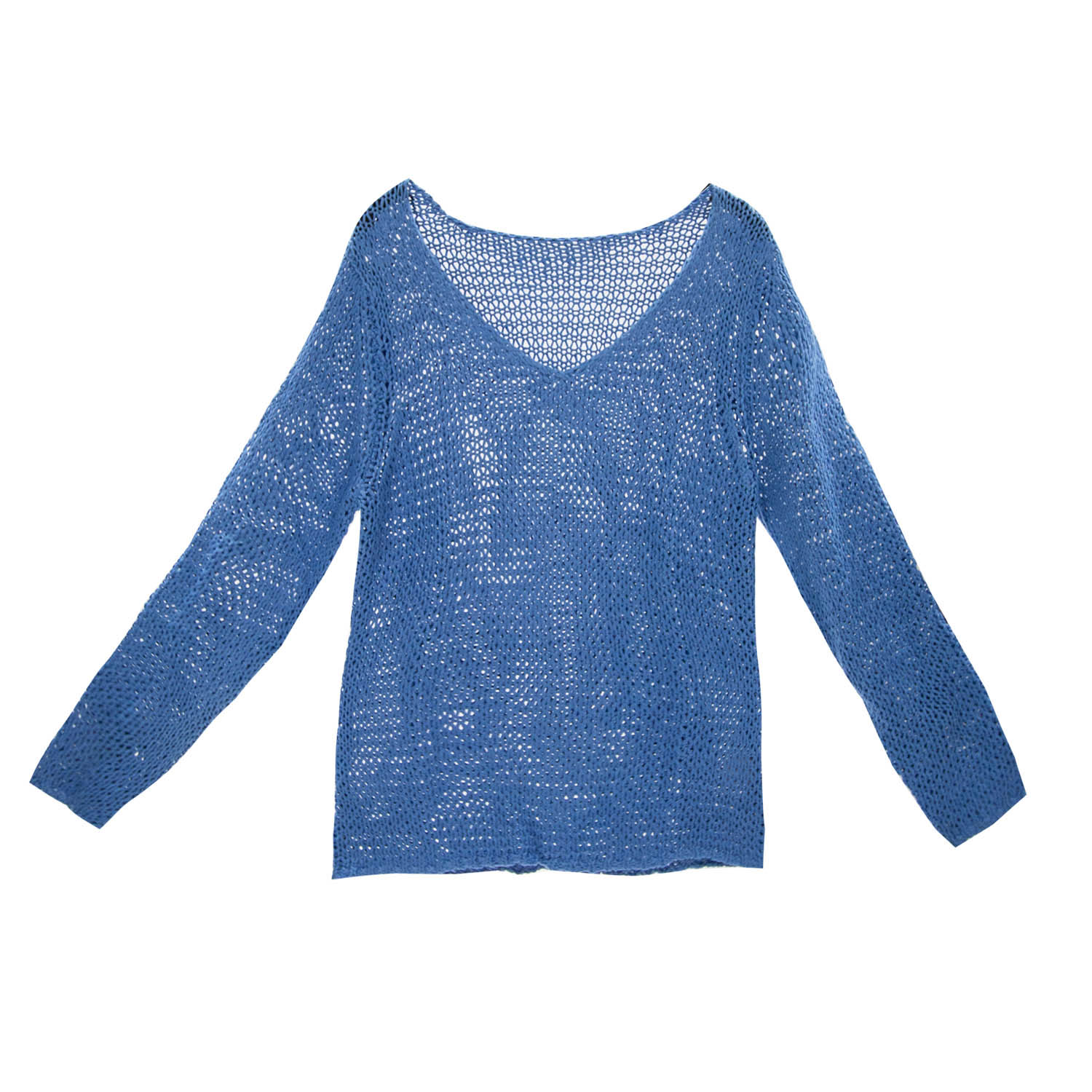 huge selection of 387f6 27965 Damen Bändchengarn Sommer Pullover in Blau