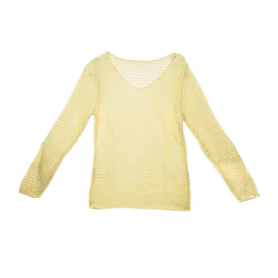 Damen Bändchengarn Sommer Pullover