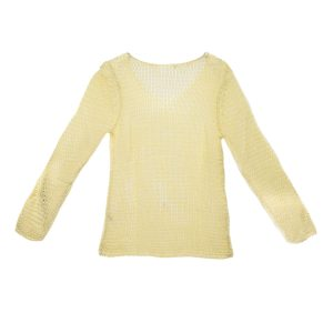 Damen Bändchengarn Sommer Pullover hinten