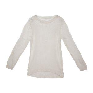 Damen Bändchengarn Pullover in Weiß