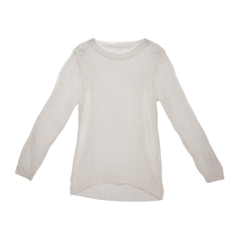 timeless design 36766 dde50 Damen Bändchengarn Pullover in Weiß