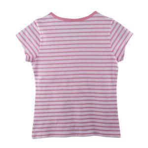 Streifenshirt front weiß rosa